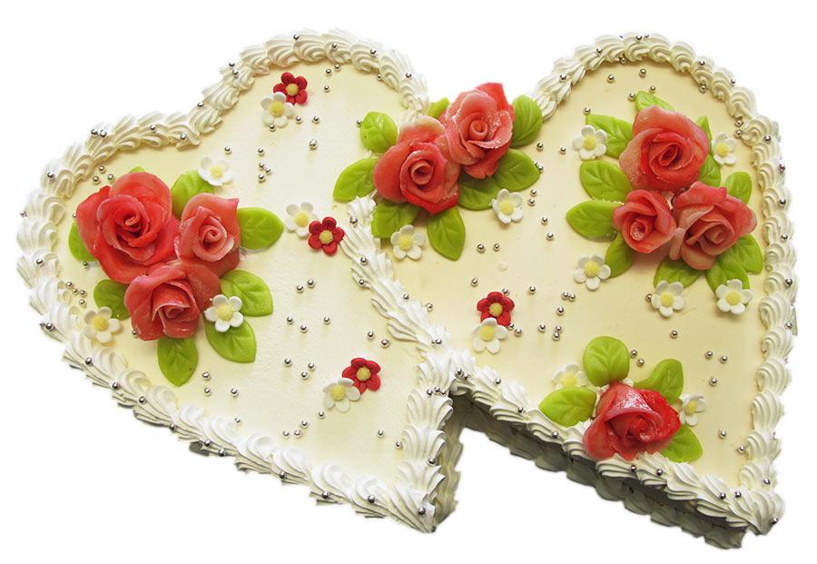 Hochzeitstorte Herzform Backerei Nestler